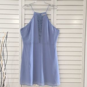 Dresses & Skirts - Periwinkle halter dress with woven knot detail